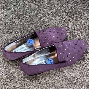 Steve Madden Eggplant Loafer Shoes